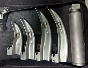 Led Light Macintosh Laryngoscope Set With 4 Blades C Size Handle