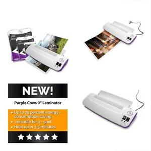 Hot And Cold 9 Laminator Warms Up Just 3 5 Minutes With 50 Pouches Pockets