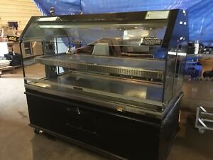 Custom Deli Inc Dilw 6h Hot Food Display Case Commercial Heated Merchandiser 02