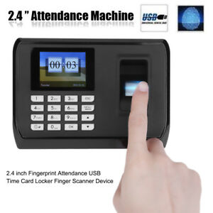 2 4 inch Tft Attendance Machine Realand Biometric Fingerprint Time Clock Reader