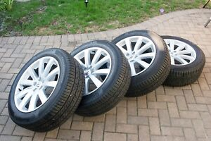 Volvo 19 10 Spoke Turbine Rims With Continental Tires In Great Shape