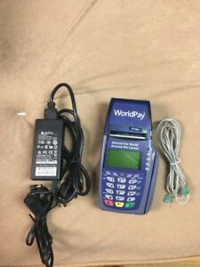 Verifone Vx510 Omni 3730 Le 5100 Credit Card Terminal With Power Supply