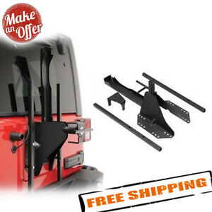 Smittybilt 2743 Src Lockable Oversized Tire Carrier 2007 2017 Jeep Wrangler Jk