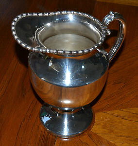 Estate Silver On Copper Lehman Brothers New York Pitcher From 1950 S Elegant