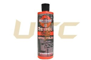3x 12oz Bottle Of Rebel Red Metal Polish Shine Cut Car Auto Chrome Detail Step