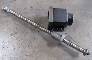 X axis Ball Screw Assembly From Cincinnati Milacron Sabre 500 1264566a 107130 4
