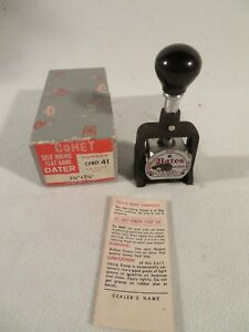 Vintage Bates Style E Wheels 6 Numbering Machine Multiple Movement Stamp