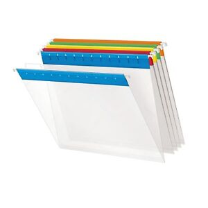 Pendaflex 55708 Poly Hanging File Folders 1 5 Tab Letter Assorted Colors