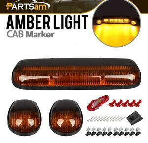 3 Amber Lens Yellow 30led Roof Running Top Lights Lamps Car Truck Suv Off Road