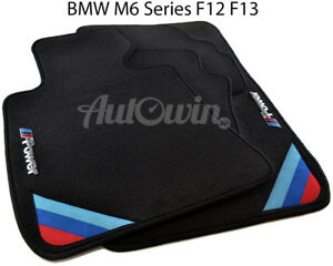 Bmw M6 Series F12 F13 Lci Black Floor Mats With m Power Emblem Lhd Clips New