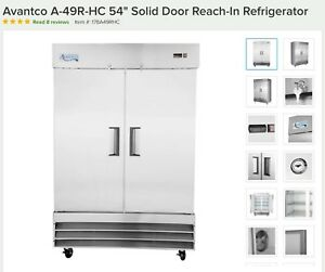 Commercial Reach in Refrgierator 54 Stainless Steel With Locks