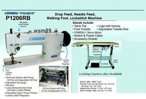 Consew P1206rb Walking Foot With 3 4 Hp Servo Motor And Knock Down Stand