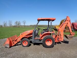 2011 Kubota L45 Tractor loader backhoe 4wd Hydro New Front Tires 1 848 Hours
