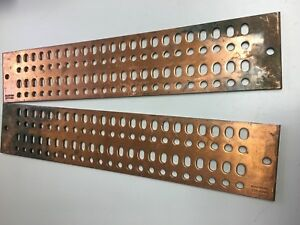 Copper Bus Bar 20 X 4 X 1 4 92 Hole Pattern qq Egba11420qq lot Of 2