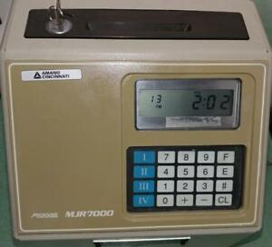 Amano Computerized Employee Time Clock microder Mjr 7000 Used