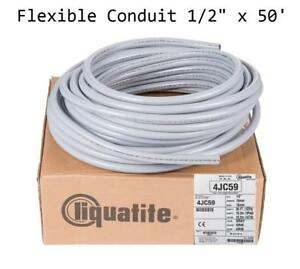 Electri flex Liquatite Flexible Metallic Conduit 1 2 X 50 Liquid Tight Ef 11