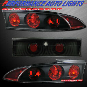 Set Of 3pcs Black Altezza Style Taillights For 1995 1999 Mitsubishi Eclipse