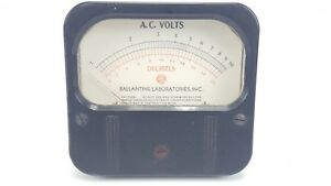 Vintage Weston 861 Decibels Ac Volts 1 10 0 20 Ballantine Panel Mount Meter 5