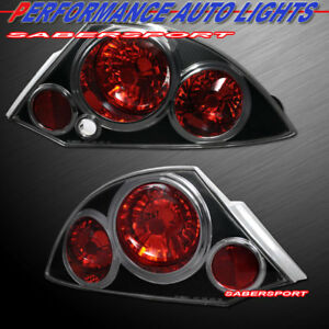 Set Of Pair Black Altezza Style Taillights For 2000 2005 Mitsubishi Eclipse