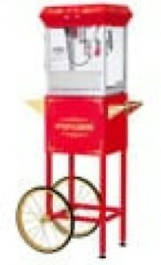 Great Northern Popcorn Gnp 400 All Star Red Popcorn Machine And Cart