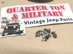 Jeep Willys Ford Gpw Nos Data Plate Rivets 100 Original G503 P108