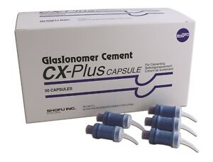 Shofu Cx plus Glasionomer Cement 50 Capsules pack fda