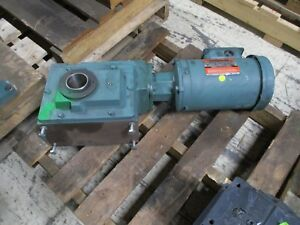 Dodge reliance Gear Motor C262t125n056 1 5hp Ratio 125 14rpm Out 230 460v