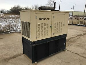 Generac 25 Kw Diesel Generator Kia Engine Low Hours Single Phase