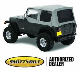 Premium Replacement Soft Top Kit For 1988 1995 Jeep Wrangler Yj In Denim Gray