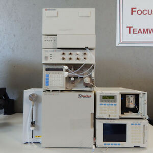 Shimadzu 10a Hplc System With Uv vis Detector And 10a Autosampler