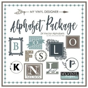 The Ultimate Alphabet Package Vector Art Ai Eps Svg Files Usb Vinyl Silhouette
