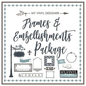 The Frames And Flourishes Vector Art Ai Eps Svg Files Usb Vinyl Silhouette