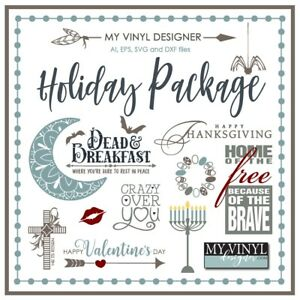 The Ultimate Holiday Package Vector Art Ai Eps Svg Files Usb Vinyl Silhouette