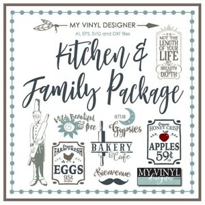 Ultimate Kitchen And Family Vector Art Ai Eps Svg Files Usb Vinyl Silhouette