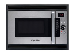 Half Time Oven 24 Built In Convection Microwave Oven Black stainless Steel