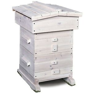 Bee Hive Starter Kit Wood Complete Home Set For Beginners Beekeeping Supplies