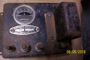 Antique Windcharger 37 Deluxe Amp Meter 6 Volt 20 A Wind Electric Steampunk
