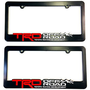2 Trd Off Road Toyota Racing Development License Plate Frames 3d Letters Trucks