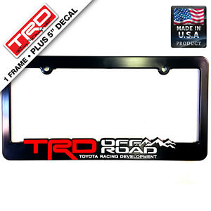 Trd Off Road Toyota Racing Development License Plate Frames 3d Letters Trucks