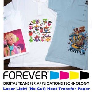 Forever Laser Light No cut Paper 11 X 17 25 Sheets Heat Transfer Paper