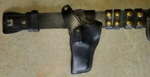 Police Style Belt Leather Gould And Goodrich B501 34lh 71b 34