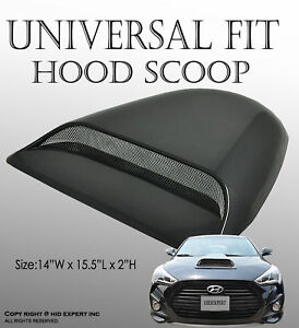 Jdm Us Universal Car Air Flow Intake Scoop Turbo Bonnet Vent Cover Hood Abs T106