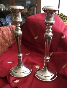 Sheffield Silverplate Candlesticks 9 5