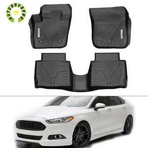 Rubber Floor Mats For 2013 2016 Ford Fusion Heavy Duty 1st 2nd Row All Weather