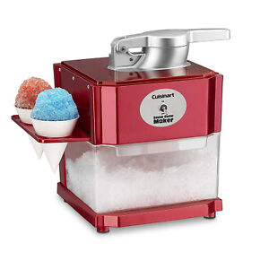 Professional Snow Cone Machine Electric Maker Shaved Ice Commercial Crusher Red