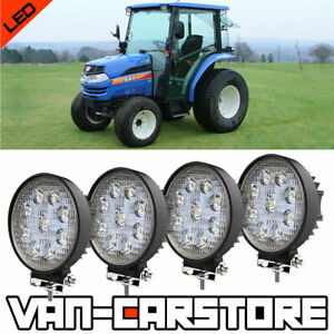 Fit Tractor Kubota Iseki Yanmar John Deere 650 750 850 4 Led Pods Cube Light