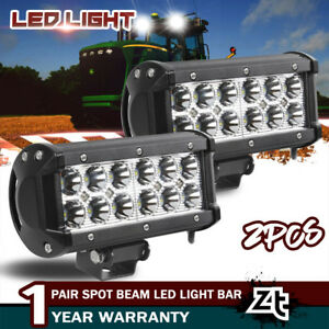 2x Led Light 72w Fit John Deere Massey Kubota Mccormic Combine Backhoe Tractor