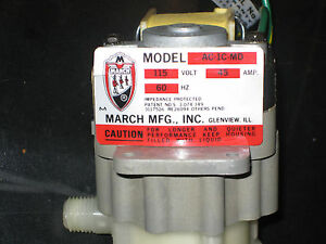 March Magnetic Drive Pump Model Ac 1c md 115 Volt Ac 45 Amp