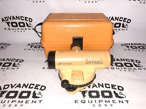 Topcon At g6 Autolevel Automatic Auto Level Transit W Carrying Case