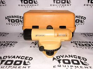 Topcon At g2 Autolevel Automatic Auto Level Transit W Carrying Case